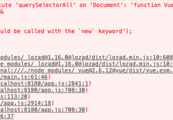 Uncaught DOMException: Failed to execute 'querySelectorAll' on 'Document': 'function Vue (options)